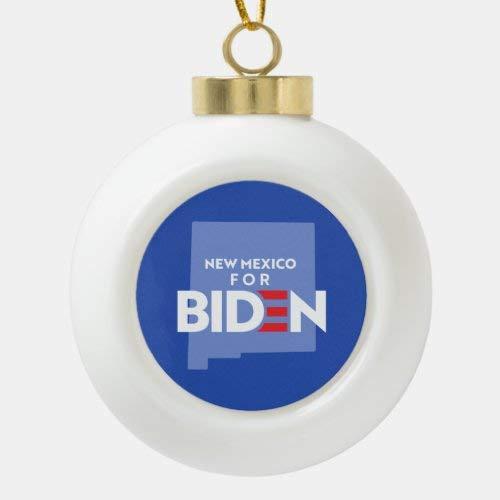 Traasd11an Adorno de árbol de Navidad para Navidad de Nueva México para bola de cerámica Biden adorno de Navidad/Feliz Navidad adornos regalo
