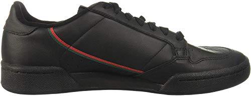 adidas Herren Continental 80 Sneaker, Core Black/Scarlet/Collegiate Green, 45 1/3 EU