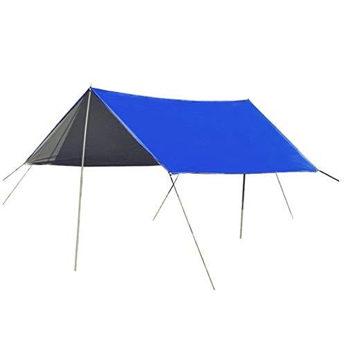 SM SunniMix Toldo Que Acampa del Refugio del Sol Durable Toldo de 3-4 Personas Lona de Picnic Plegable del Parasol - Azul