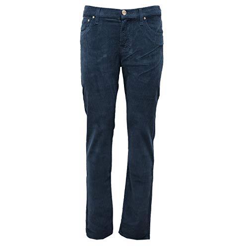 Jacob Cohen 6403AB (NO Foulard) Pantalone Donna Blue Velvet Trouser Woman [26]