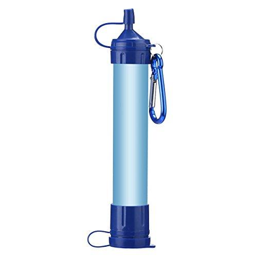 Wankd Notfall-Wasserfilter, tragbarer Wasserfilter-Stroh-Luftfilter Persönlicher Filter-Trinkwasserfiltrations-Trinkhalm für Outdoor-Camping-Wandern entfernt 99,9% Bakterienfilter auf 0,01 Mikrometer
