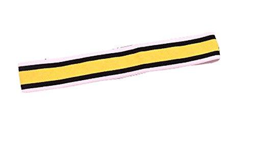 Jaune et noir à rayures Top Bandeaux Sport Fashion Bandeau Band Hair