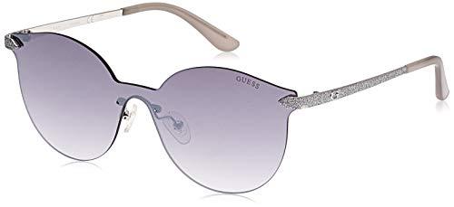 Guess GU7547 10C 00 Monturas de gafas, Gris (Nichel Stagno Chiaro LucFumo Specchiato), 0.0 Unisex Adulto
