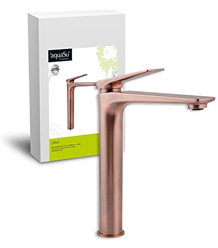 AquaSu 77009 5 Grifo para lavabo, Cobre – alto, Kupfer - Hoch