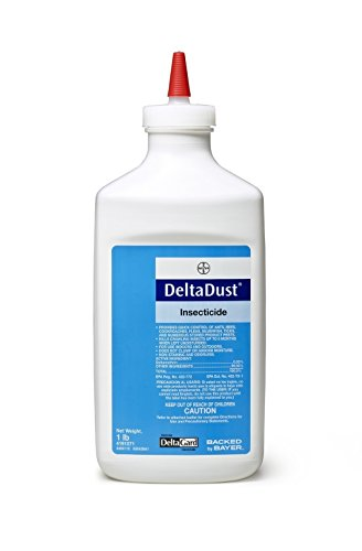 1 LB Delta Dust Pest Insecticide w/Puffer Bellow Hand Duster, Carpenter Bee, Bedbugs, Wasp Control and many more.