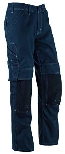 Bosch Professional Hose mit Knietaschen WKT 09, W34 L35, schwarz, Gr. 50, Bundweite 88cm, Beinlänge 90cm