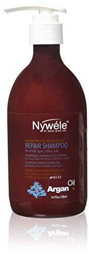 Nywele Keratin Infused Moisturizing Repair Shampoo, Argan Oil, 16.9 oz -  NYA-SHAM