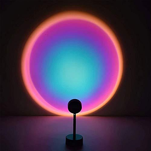 Lámpara de proyección, lámpara de proyección de arco iris de 180 grados de rotación de 180 grados, luz, lámpara LED de luz de noche USB, lámparas de pie para sala de estar, ambiente romántico Luz