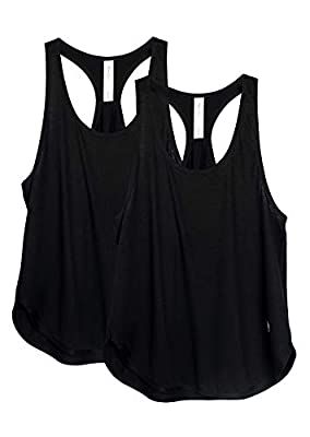 icyzone Workout Tank Tops for Women - Athletic Yoga Tops, Racerback Running Tank Top