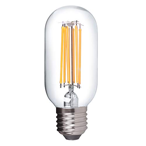 E27 LED Leuchtmittel 8W 230V warmweiß 3000K Form T45 Ø45mm Lampen Filament Retro 1055 Lumen DE-Händler