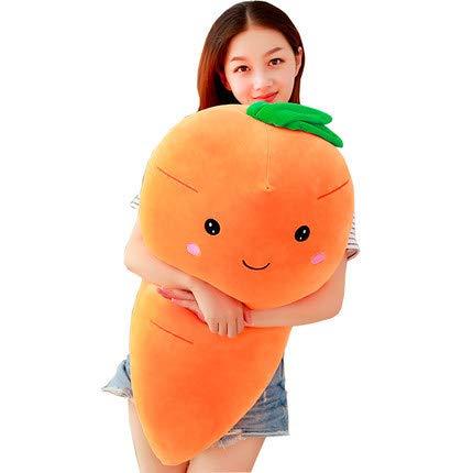 ZHANGCartoon Karottenkissen Schlafpuppe Plüsch Süßes Mädchen Super Süße Stoffpuppe Puppenmädchen Größenberechnung verlässt Orange