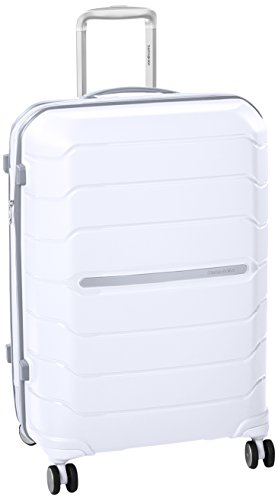 Samsonite Octolite Spinner Unisex Medium White Polypropylene Luggage Bag TSA Approved I72005005
