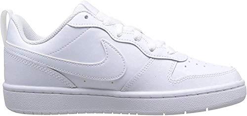 Nike Baby-Boys Court Borough Low 2 (TDV) Sneaker, White/White-White, 22 EU