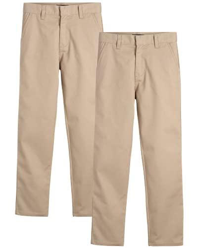 U.S. Polo Assn. Boys' School Uniform Pants - Khaki Dress Pants (Size: 4-20), Size 12, Khaki