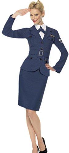 erdbeerloft - Damen Air Force Captain - Pilotin Kostüm , S, Dunkel-Blau