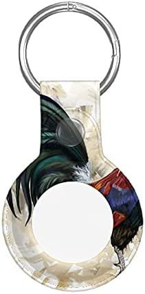 Great Chicken Rooster Cock Apple Airtag Case Protective Air Tag Keychain with Anti-Lost Design
