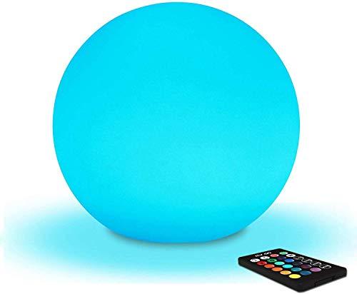 LIGHT LJ 20 Centimetri Sfera Colore Chiaro di Notte Cambiante di Umore della Lampada con Telecomando della Batteria E Un Controllo di Luce di Notte Lampada da Comodino per Bambini 16 Colori RGB