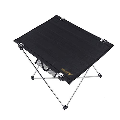 Mesa Camping Plegable Mesa de camping plegable de aluminio, mesa de campamento compacta portátil, mesa de picnic ligera con bolsa de transporte para senderismo, barbacoa, pesca y viaje Mesa Plegable M