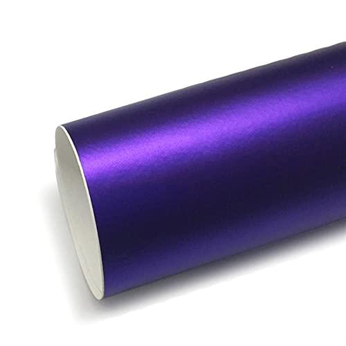 WSFANG Sticker de Carro 1 UNID PVC Purple Coche Gloss Metallic Chrome Copa DE VINIL DE VINILA DE Plaza DE PELÍCULA DIY DIY Pegador 152X50 CM para carros