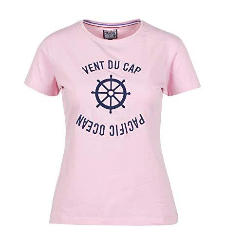 Vent du cap -Tee-Shirt Manches Courtes Femme - ACHERYL-Rose-M