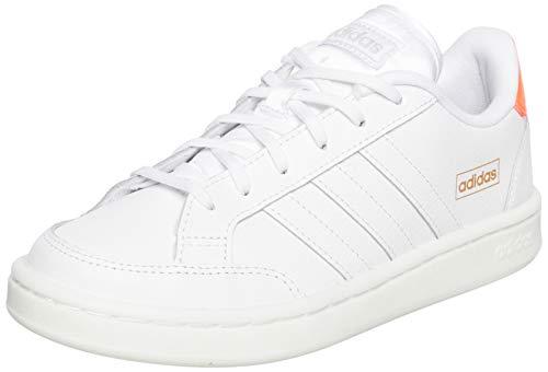 adidas Damen Grand Court SE Tennisschuhe, Ftwbla/Ftwbla/Rossen, 37 1/3 EU