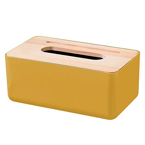 XMYNB Caja De Pañuelos 1 Unids Teje Caja De Pañuelo Cubierta De Madera Cubierta De Madera Contenedor De Papel Equipo De Almacenamiento Teléfono Soporte Slot Diseño De Ranura para Sala De Estar