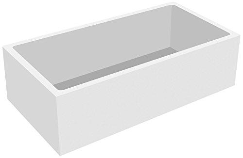 'aquaSu® Wannenträger zur Acryl-Körperform-Wanne linHa | Bad | Badezimmer | 170 x 75 cm | weiß | Acryl