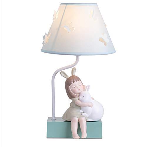 YVAN Lámpara de mesa infantil clásica nórdica, diseño de mariposa, para salón, lámpara de lectura de 40,6 cm
