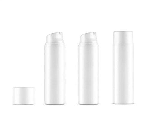 3 Stück weiße, leere Einweg-Mini-Vakuum-Pumpflaschen mit Bajonettverschluss für Creme, Lotion, Kosmetik, Make-up, Emulsion, Aufbewahrungsbehälter, Behälter für Reisezubehör