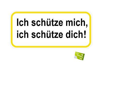 Generisch 2 Stück Spruch Aufkleber Zusammenhalt Sicherheit Aufkleber Abziehbild (R52) W (15 x 7 cm)