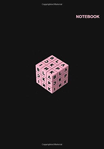 Blackpink kpop notebook: Lined Pages, 110+ Pages, 7 x 10 (Same B5 size), Blackpink Rubik Design Cover.