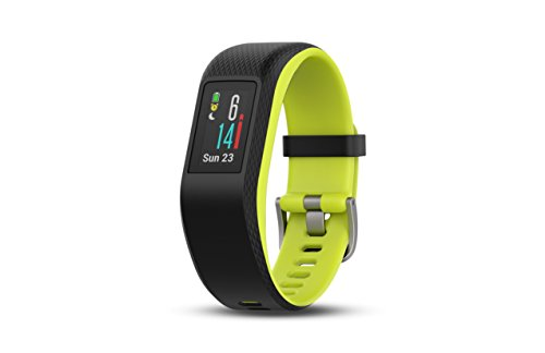 Garmin vívosport, Fitness/Activity Tracker with GPS and Heart Rate Monitoring, Lime, Large