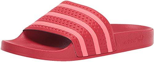 Adidas Originals - Ciabatte Adilette da donna, Rosso (Scarlet Flash rosso scarlatto), 42.5 EU