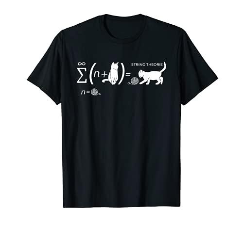 String Theorie Schrödingers Katze Physiker Student T-Shirt
