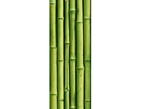 Oedim Vinyl Stickers Badezimmer Bildschirm Bambu | Verschiedene Maße 200x60 cm| Klebstoffbeständig und einfache Anwendung | Stilvoller Design-dekorativer