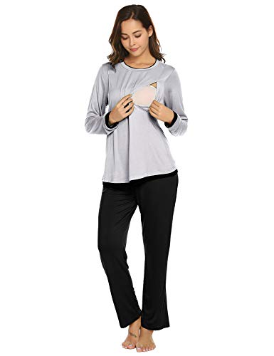 Romanstii Maternity Nursing Pajamas Set