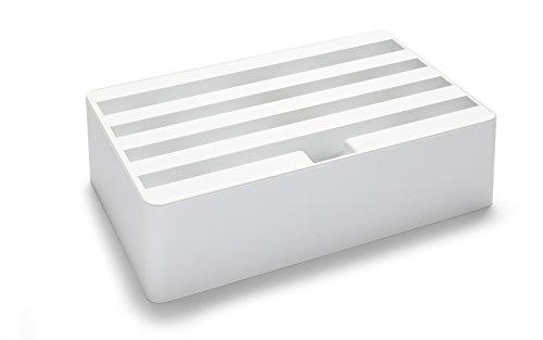 ALLDOCK 3.0 Universal-Ladestation Medium | 4-Fach-USB-Hub je 2400mA = Gesamtleistung 9600mA | Kunststoff | Dittrich Design (Weiss)