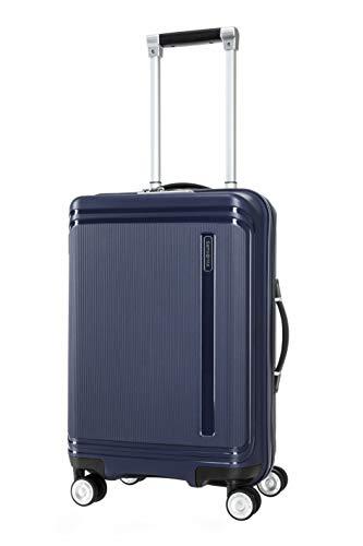 SAMSONITE Hartlan Polypropylene 55.5 cms Navy Hardsided Cabin Luggage (SAM HARTLAN Spinner 55 Navy)