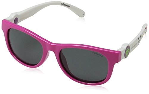 Polaroid PLD 8011/S Y2 NDZ Gafas de sol, Rosa (Fuchsia Whte/Grey Pz), 44 Unisex Niños