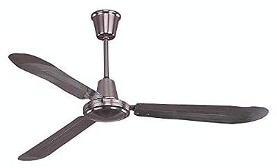 Ciata Lighting Industrial 60-watt motor, 3 Blade 56 Inch 316rpm Sweep aluminium Ceiling Fan (Brushed Aluminum)