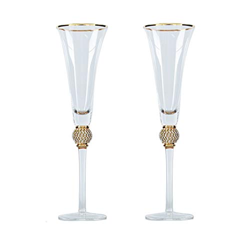JSY Cristal de Vidrio cóctel Stem Champagne Glass Copa de Vino Phnom...
