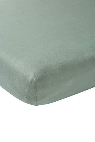 Meyco 564022 Jersey hoeslaken, ledikant, stone green