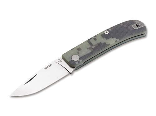 Manly Unisex– Erwachsene 01ML044 Taschenmesser, grün, 17,4 cm