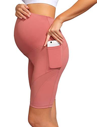 Maacie Mujer Pantalones Cortos Combinado Malla Transparente para Premamá S 21S21#2