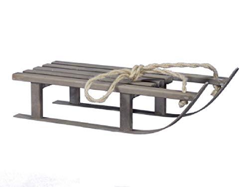 Decpero Holzschlitten / 38 cm/grau