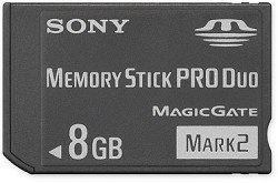 Sony 8 GB Memory Stick PRO Duo Flash Memory Card MSMT8G