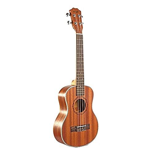 Ramingt Guitarra acústica clásica Tenor Acoustic Electric Ukelele 26 pulgadas Guitarra 4 cuerdas ukelele Chitarrista de madera a mano Mahogany Música Clásica Estilo Folk para Performance