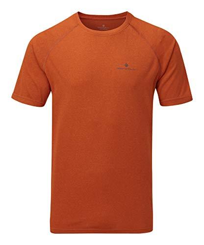 Ronhill Herren Men\'s Core S/S Tee Kurzarm-T-Shirt, Brick Marl/Charcoal, XL