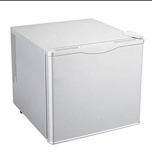 DKBE Refrigerador de 17 litros 220v Mini congelador portátil para el hogar Hotel Room Apartamento Estudiante Dormitorio Reducción de ruido silenciosa - Blanco/Negro