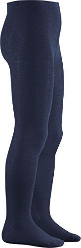 Playshoes Mädchen Uni Strumpfhose, Blau (Marine), 110-116